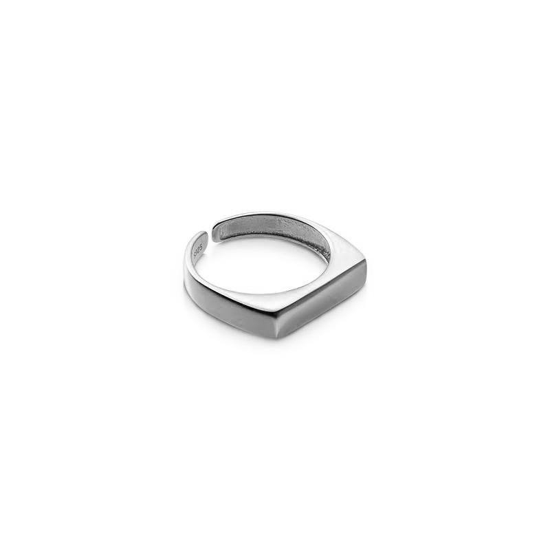 'Anillo Sello Rectangular' multitalla, plata de ley 925