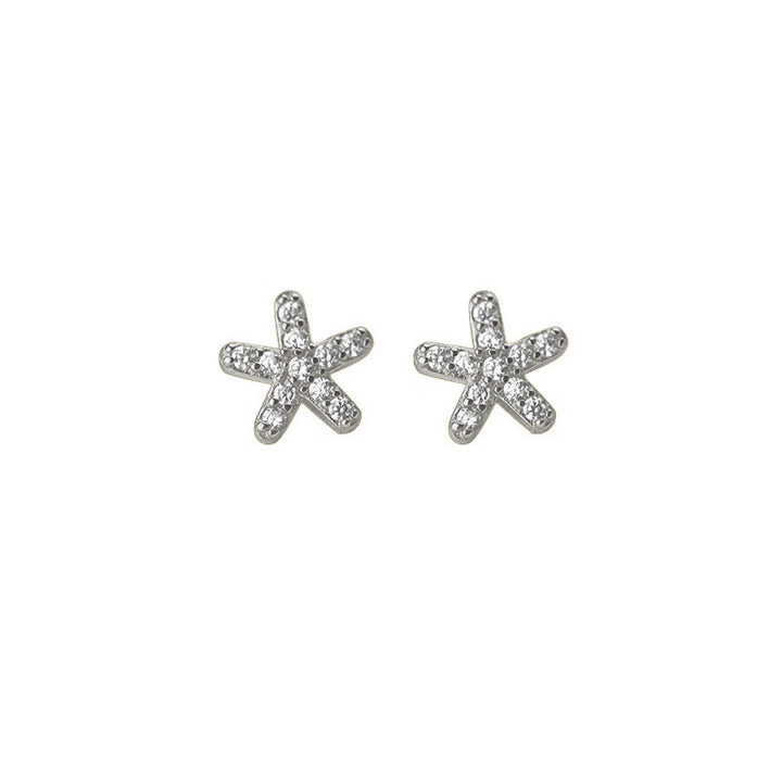 TINY EARRINGS ESTRELLA PLATA DE LEY 925 Y CIRCONITAS