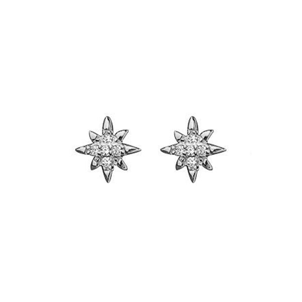 TINY EARRINGS SPARK PLATA DE LEY 925 Y CIRCONITAS