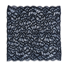 Load image into Gallery viewer, Lace pocket square in black sand color.