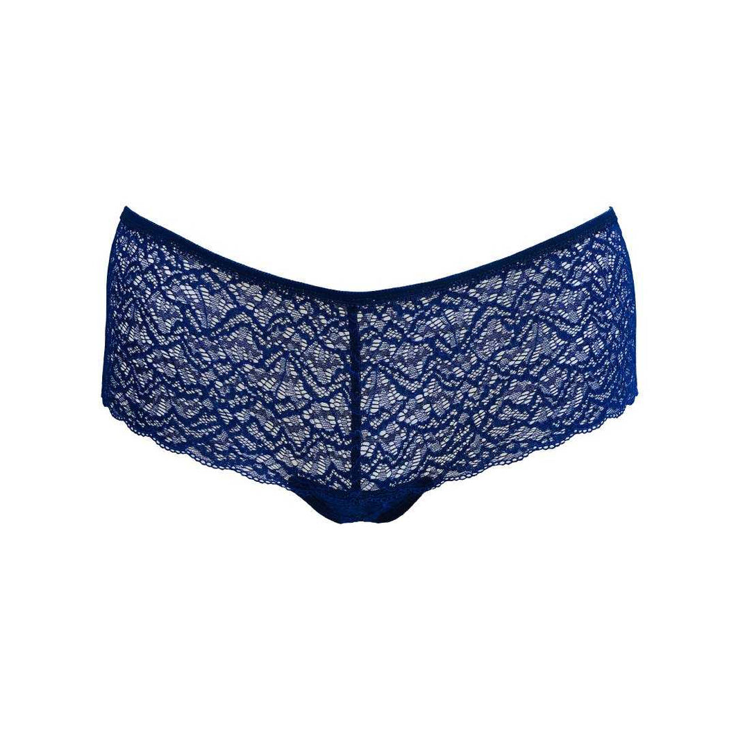 Duchess Lace Hipster Panty in Venetian Blue.
