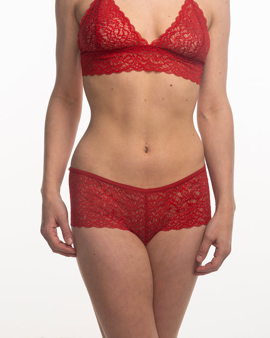 Duchess lace hipster passion red