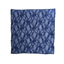 Load image into Gallery viewer, Fantasia Pocket Square in Venetian Blue unfolded.