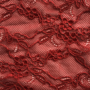Passion Red lace swatch for Fantasia lace.