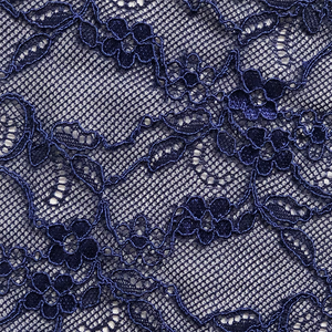 Venetian blue Fantasia lace swatch.