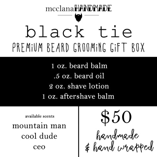 black tie : premium beard grooming gift box
