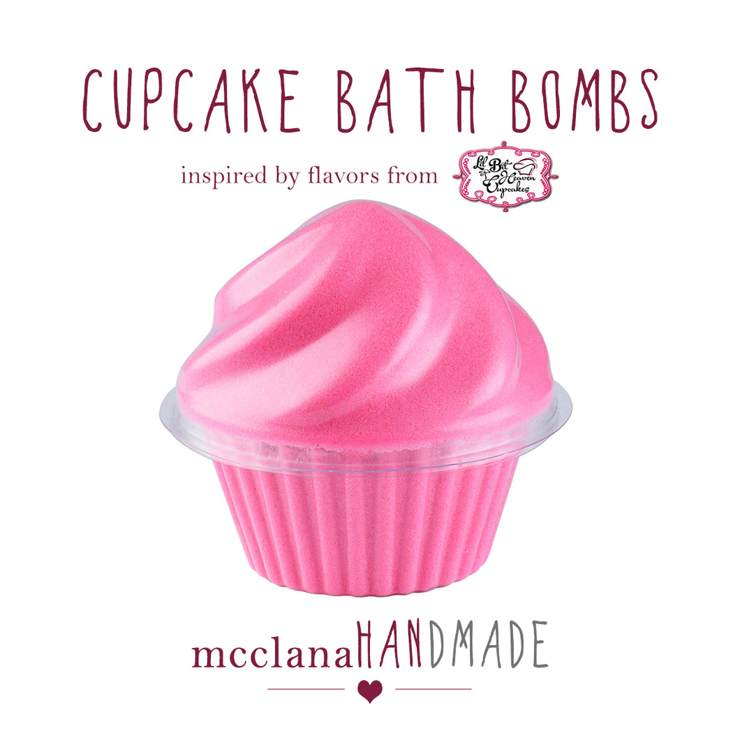 bath bombs - cupcakes