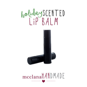 holiday scented lip balm