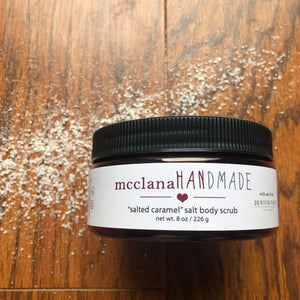 """salted caramel"" salt body scrub"