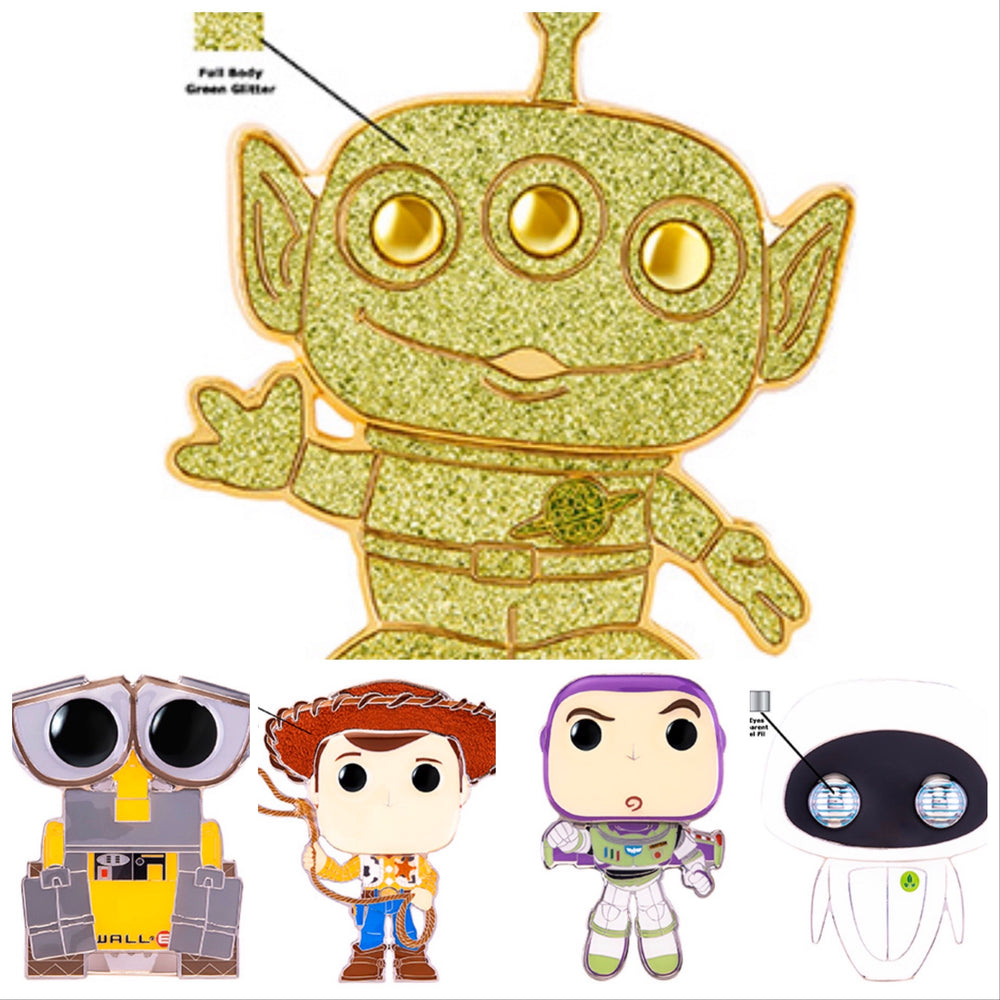 Toy Story -Large Enamel Pin (individuals/Full set with chase) - Smeye World