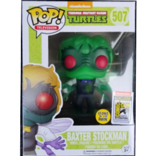 Baxter Stockman, Glow, Nickelodeon SDCC Sticker, #507, (Condition 8/10)