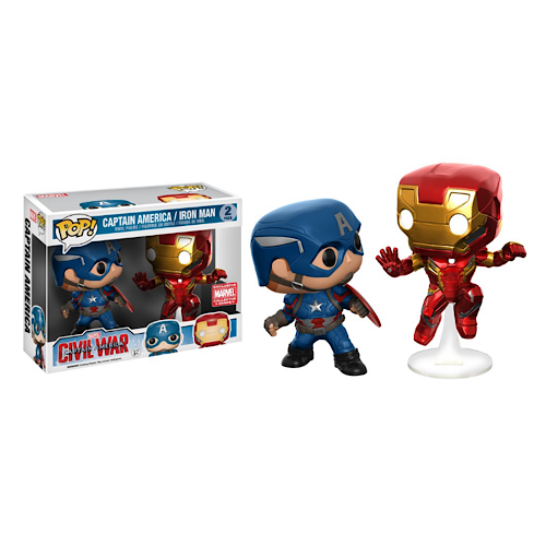 Captain America & Iron Man (Civil War, Action Pose), 2 Pack, Marvel Collector Corps Exclusive, (Condition 7/10)