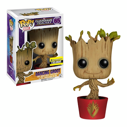 Dancing Groot (Red Pot), Entertainment Earth Exclusive, #65, (Condition 7/10)