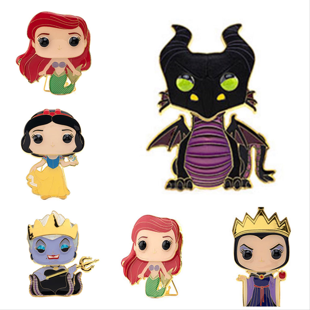 Disney -Large Enamel Pin (Individuals/Full set with Maleficent chase)