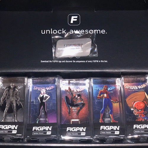 Spiderman into the Spiderverse Set LE1500 NYCC 2019 Limited Edition Figpin - Smeye World