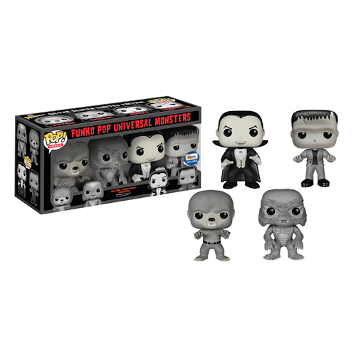 Universal Monsters (Black & White), 4 Pack, Gemini Exclusive, (Condition 7/10)