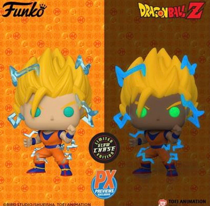 POP! ANIMATION DRAGON BALL Z: SUPER SAIYAN 2 GOKU PX EXCLUSIVE WITH CHANCE AT CHASE