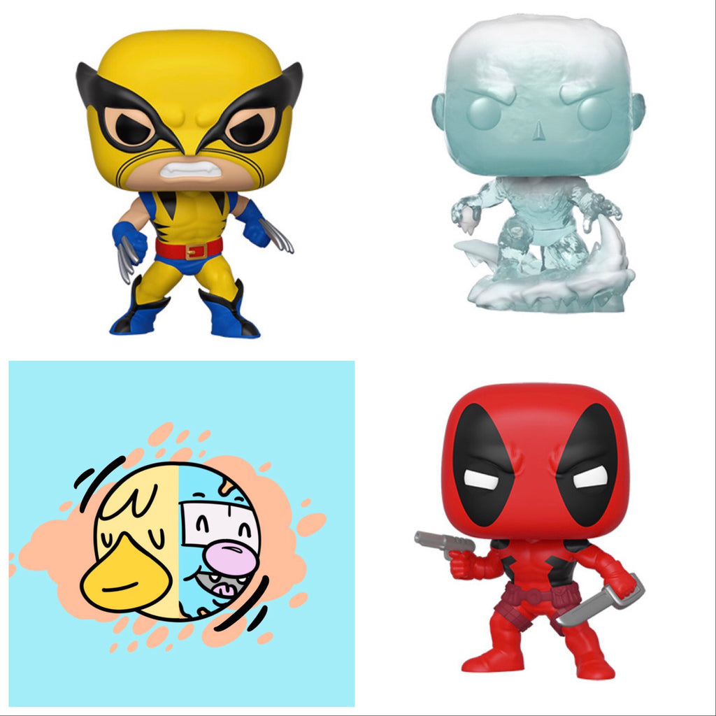 Marvel 80TH Set (Deadpool, Wolverine, Iceman) - Smeye World
