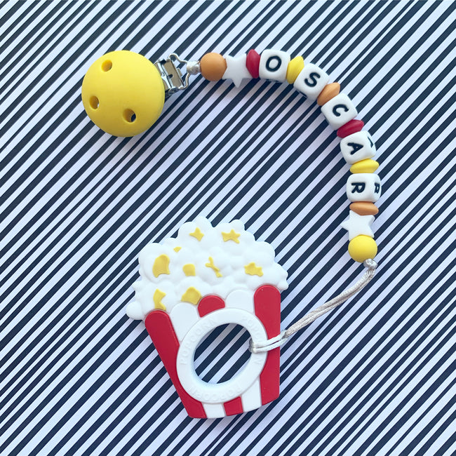 Personalized Teether: Popcorn