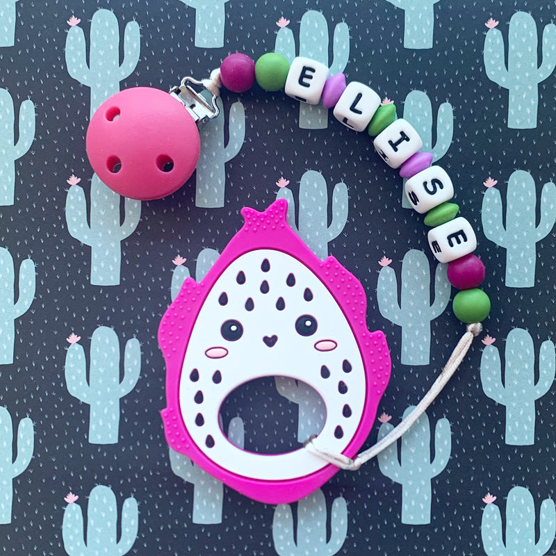 Personalized Teether: Dragon Fruit