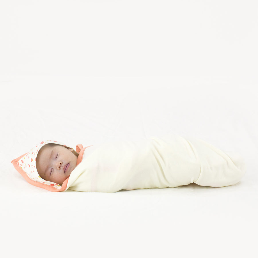 Hooded Blanket (Pitta Patta - Peach)