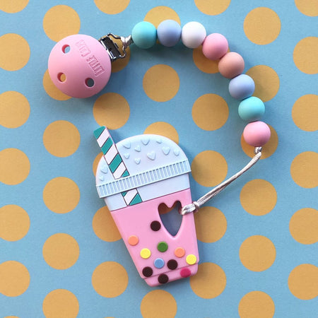 Little Caleb: Bubble Tea Teether(Strawberry)