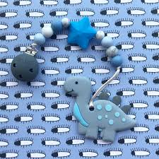 Little Caleb: Cute Dinosaur Teether (Grey)