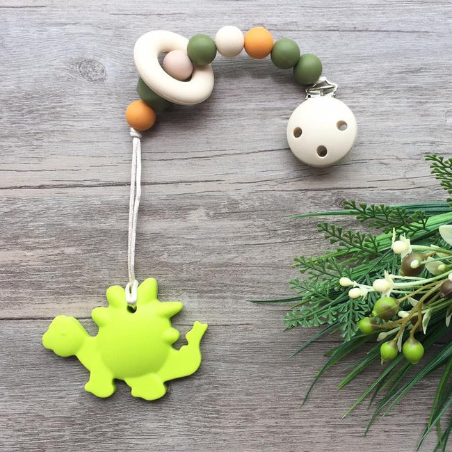 Little Caleb: Dinsaur Teether (Green)
