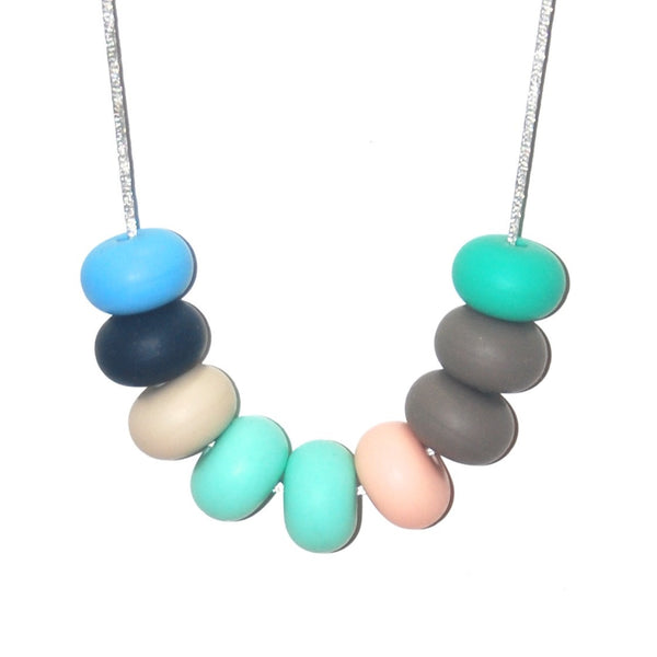 Tiny and I: Teething Necklace - Capri
