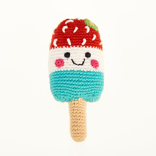 Pebble: Friendly Icy Lolly  - red/white/blue