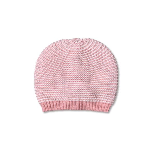 Mini Kardi : Pink Strip Baby Beanie