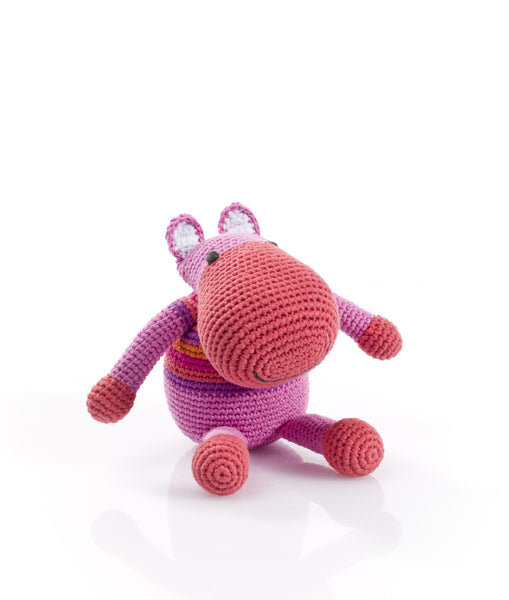 Pebble: Hippo Rattle (Pink)