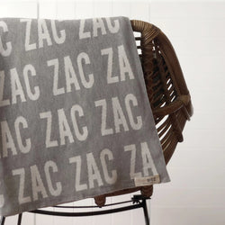 Personalized Blanket for Adults (Light Grey Background)