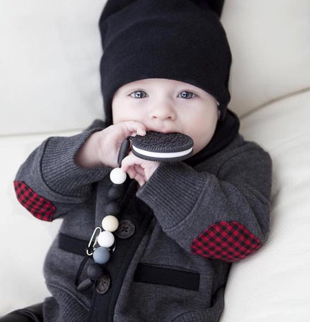 Little Caleb: Cookie Teether (Black)