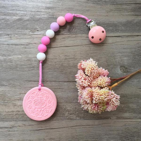 Little Caleb: Cookie Teether (Pink)