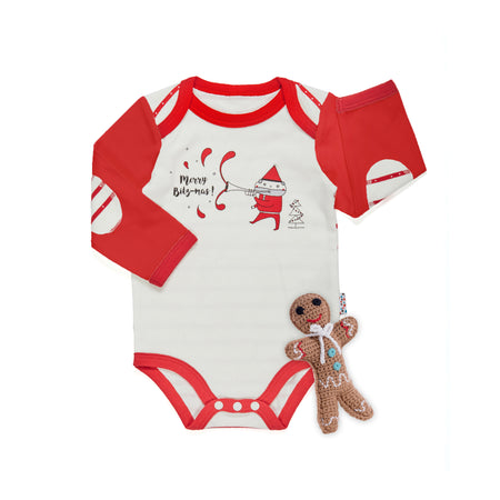 Christmas Set: Merry BitzMas Bodysuit + Rattle Toy