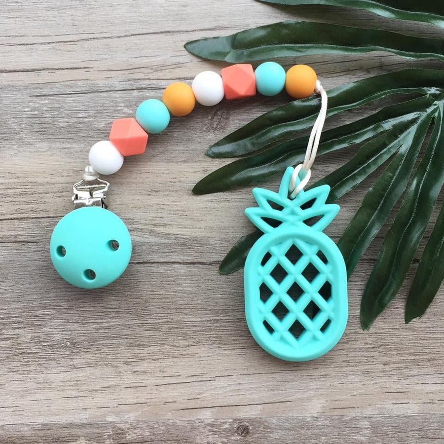 Little Caleb: Pinapple Teether (Turquoise)