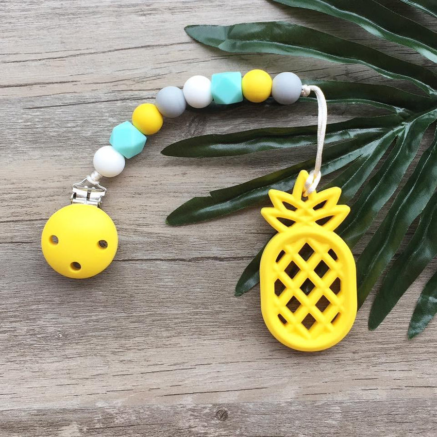 Little Caleb : Pinapple Teether (Yellow)