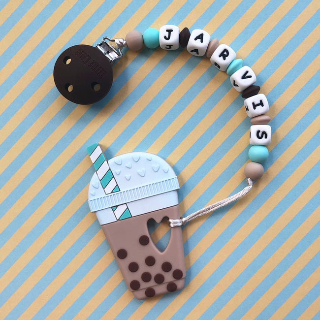 Personalized Teether: Bubble Tea (Chocolate)
