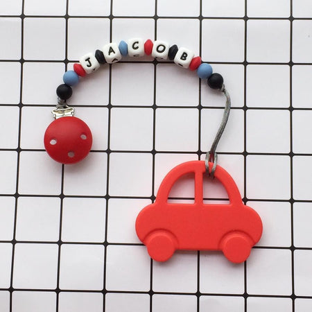 Personalized Teether: Car (Red)