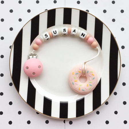 Personalized Teether: Donut (Pink)