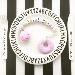 Personalized Teether: Donut (Purple)