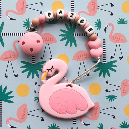 Personalized Teether: Flamingo