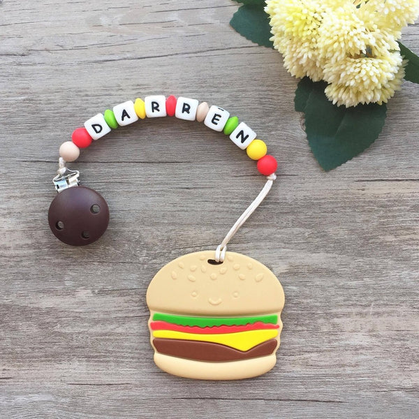 Personalized Teether: Hamburger