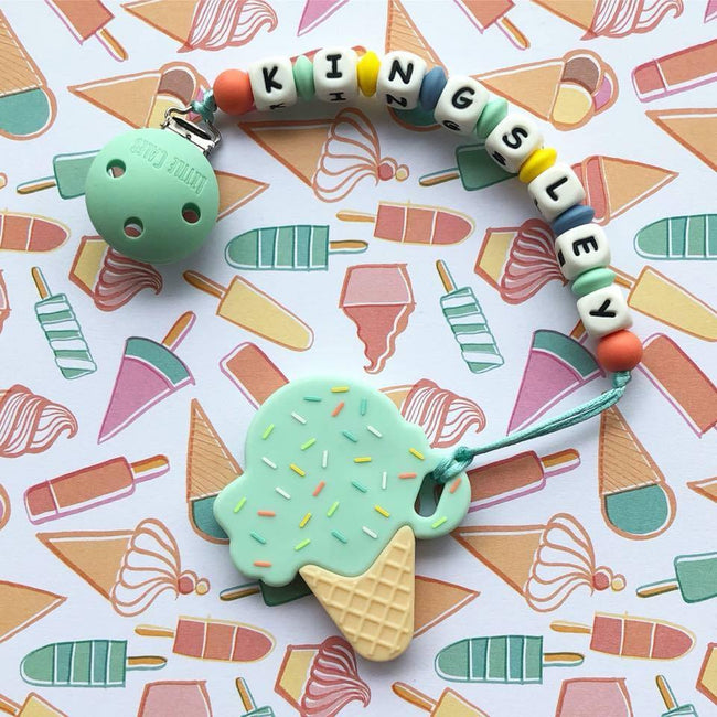 Personalized Teether: Ice-cream (Mint)