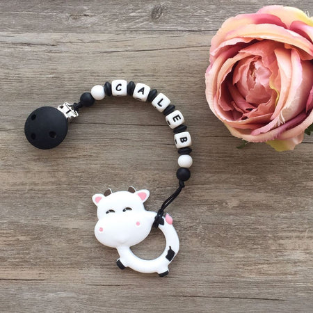 Personalized Teether: Silly Cow