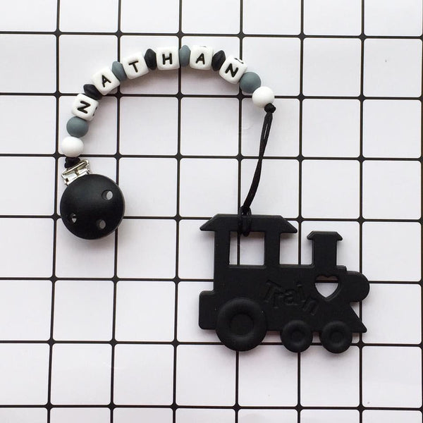 Personalized Teether: Train (Black)