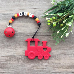 Personalized Teether: Train (Red)