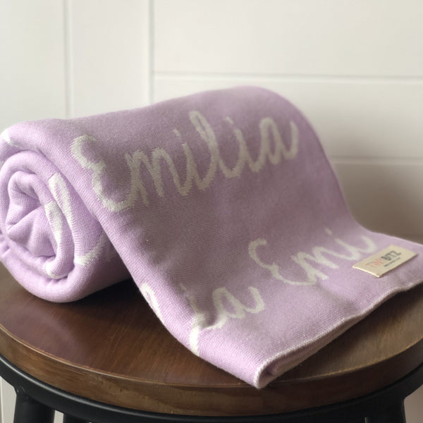Personalized Blanket for Pets (Light Purple Background)