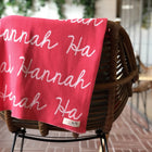 Personalized Blanket for Babies and Kids (Bright Pink Background)